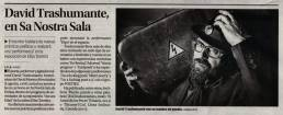 Retrato fotográfico del poeta, performer y agitador cultural David Trashumante para Perdidos. Un lugar para encontrar.