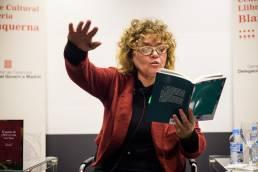 La poeta Dolors Miquel en la presentación de la Editorial La Marisma.