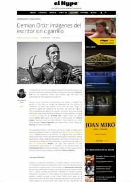 Demian Ortiz: imágenes del escritor sin cigarrillo, entrevista en elHype