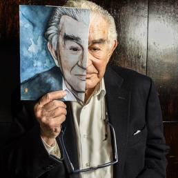 Fotografía de retrato editorial del poeta Antonio Gamoneda