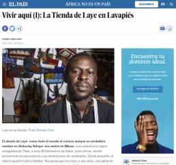 El País | Reportaje fotográfico documental La Tienda de Laye en Lavapiés realizado por el fotógrafo Demian Ortiz y Chema Caballero