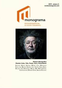 Retrato fotográfico del poeta Dionisio Cañas para la portada de la revista Monograma nº4.
