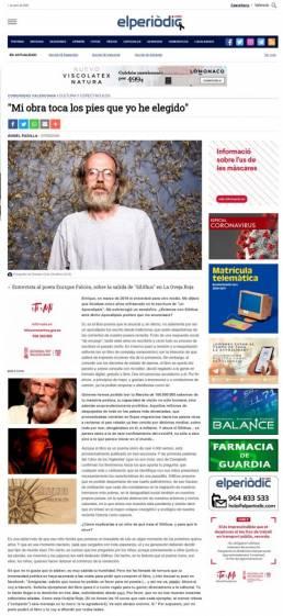 Retrato fotográfico de Enrique Falcón en el diario online Valencia Plaza, realizado por el fotógrafo Demian Ortiz.