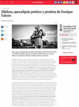 Retrato fotográfico de Enrique Falcón en el diario online elperiodic.com, realizado por el fotógrafo Demian Ortiz para la entrevista