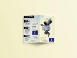 Junta Castilla La Mancha   Diseño gráfico editorial de dípticos publicitarios de la exposición Poesía en el Museo.